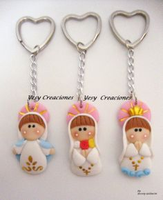 Recuerdos Baby Shower Nacimiento Bautizo Primera Union Gratis Pictures Polymer Clay Projects, Clay Crafts, Baby Shower Pictures, Rose Crafts, Baking Clay, Biscuit, Cute Clay, Pasta Flexible, Baby Sprinkle