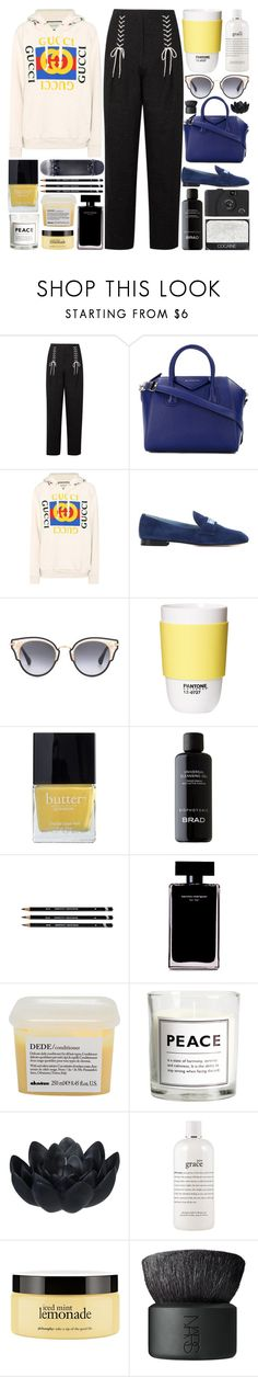 """A lot of time passed and these days, I sometimes miss you, I wonder why?"" by pure-and-valuable ❤ liked on Polyvore featuring TIBI, Givenchy, Gucci, Prada, Jimmy Choo, ROOM COPENHAGEN, Butter London, Narciso Rodriguez, Davines and NARS Cosmetics"