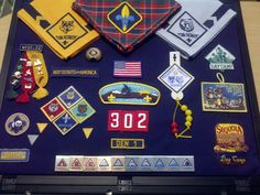 Cub scout shadow box framed awards- by Peggy Kelley