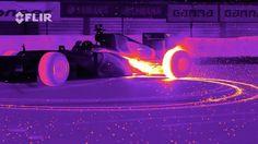 快到著火!用紅外線相機拍攝一級方程式賽車
