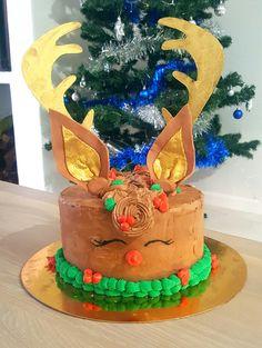 Reindeer, Birthday Cake, Cupcakes, Baking, Desserts, Food, Bread Making, Tailgate Desserts, Birthday Cakes