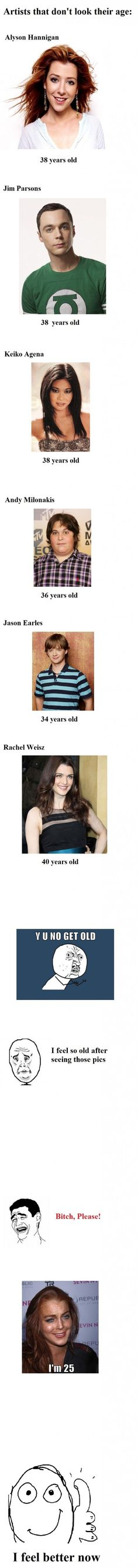 Actors who don't look their age