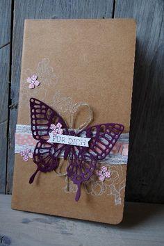 Notizbuch dekorieren, Bild1,  gebastelt mit Produkten von Stampin' Up!
