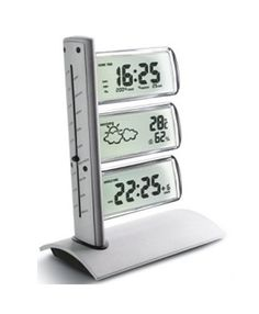 Alloy crystal display weather forecast clock