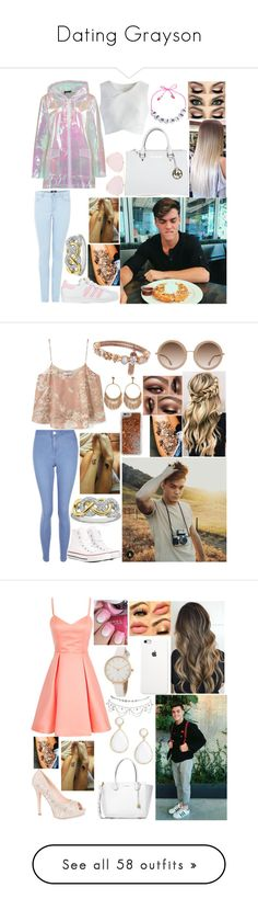 """""""Dating Grayson"""" by wattpad-lover-z ❤ liked on Polyvore featuring Boohoo, adidas, Chicwish, Michael Kors, Bellastellas, MANGO, New Look, Converse, Agent 18 and Alice + Olivia"""