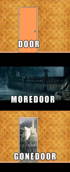 Important doors of middle earth hahaha