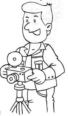 Light's Camera.....ACTION!! Animal Coloring Pages, Coloring For Kids, Coloring Pages For Kids, Coloring Sheets, Adult Coloring, Coloring Books, Art Drawings For Kids, Disney Drawings, Drawing For Kids