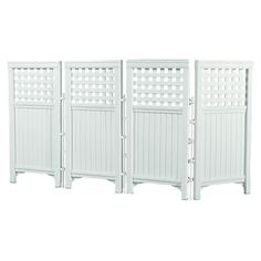Found it at Wayfair - Suncast 4 Panel Outdoor Screen Enclosure in White