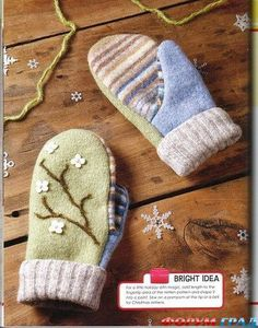 Crochet Baby Mittens The chorradikas Laury:free baby and toddler mittens pattern The Mitten, Toddler Mittens, Baby Mittens, Knitting Patterns, Sewing Patterns, Crochet Patterns, Sewing For Kids, Baby Sewing, Sewing Crafts