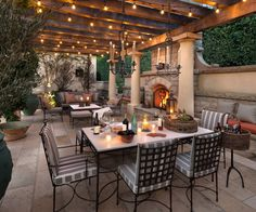 dreamy dining area | cafe lights | pergola lights