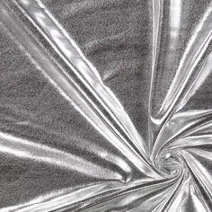 Folien Jersey 2 - silber - Jerseystoffe- stoffe.de