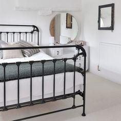 Choose a slimline black metal bed frame