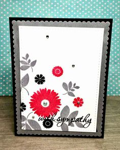 Sympathy card using Verve Stamps--Bloom and Grow