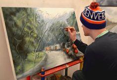 ez aztán az olajfestmény:) by Francis McCrory Rain Painting, Oil Painting On Canvas, Realistic Paintings, Amazing Drawings, Bored Panda, Artist At Work, Lovers Art, Illustration Art, Illustration Fashion