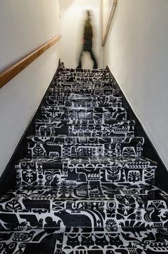 This gives me great ideas for my staircase to my studio