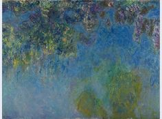Blauwe regen Giverny (Frankrijk) - Claude Monet, 1925. Gemeentemuseum Den Haag, Netherlands