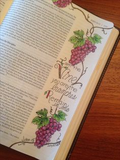 """Stampin Up """"Tuscan Vineyard"""" (colored pencils) used for Bible Art Journaling"""