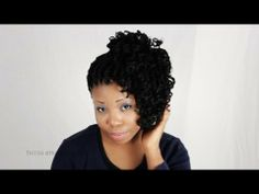 Not a huge fan of the 1st one, but 3 Ways To Style Your Kinky Twists Braids