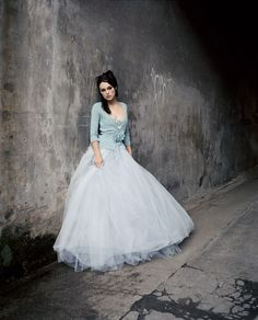 Dreamy blue gown...I love love love this ballet inspired look.