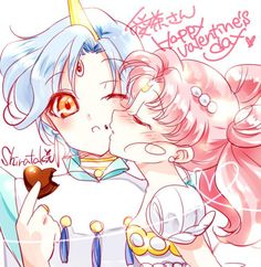 moonlightsdreaming:Helios & Chibi-Usa // by しらたき