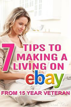 7 Tips to Making a L Make Money From Home, Way To Make Money, Make Money Online, Ebay Selling Tips, Ebay Tips, Selling Online, Home Based Business, Business Tips, Business Opportunities