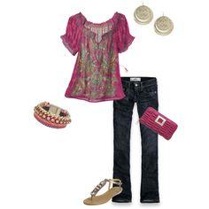 casual style: raspberry
