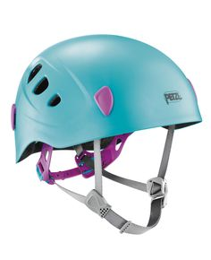 The PICCHU children's helmet is designed for rock climbing and cycling. It is very light and comfortable and constructed for durability. Three pages of stickers, with one reflective page, are included so that the helmet can be personalized and made more visible.