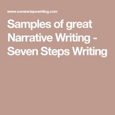 Writing a Personal Narrative in Three Easy Lessons!