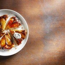 Tarte Tatin met peer en gezouten karamel