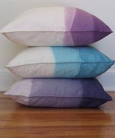 DIY dip dye pillows                                                                                                                                                      More