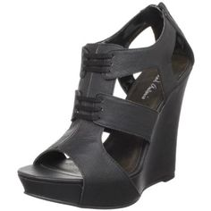Michael Antonio Women's Gower Wedge Sandal #black $47.78