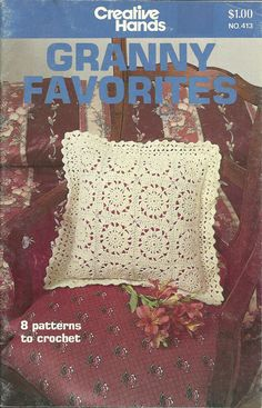 This little booklet from 1981 has 8 different granny square projects. Always classic and surprisingly modern patterns are for slippers,