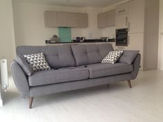 Charcoal Zinc - love it! Living Room Grey, Living Room Chairs, Home Living Room, Living Spaces, French Connection Sofa, French Sofa, Dfs, Open Plan Living, Modernism