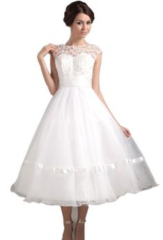 Albizia Strapless Satin Lace Embroid Short Mini Wedding Dresses(18,White)