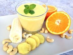 Smoothie jako zdravá svačina Camembert Cheese, Smoothies, Juice, Food And Drink, Gluten Free, Pudding, Weight Loss, Drinks, Sweet