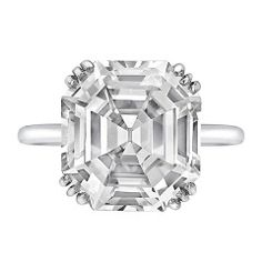 CARTIER 8.06 Carat Asscher-Cut Diamond Ring