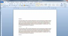 Microsoft Word – Heading formatting and table of contents