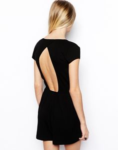 Image 2 of ASOS Wrap Plunge Playsuit with Cap sleeves