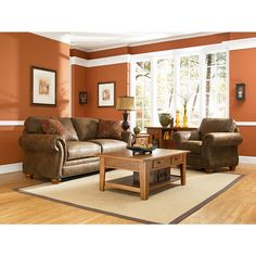 Laramie Sofa and Love Seat Set by Broyhill - High Point-Discount Furniture