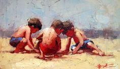Andre Kohn 3 boys on the beach.