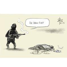 Dav Pope illustrateur australien #CharlieHebdo