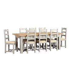 Chester Grey 220-265-310cm Ext. Table and 8 Chairs