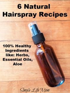 6 Natural Hair Spray Recipes with healthy ingredients - sugar spray, aloe, essential oils, herbal hair spray for hold and non-frizzy hair. Get rid of frizziness. Homemade Hair Spray, Diy Hair Spray, Best Natural Hair Products, Natural Hair Care, Natural Hair Styles, Natural Beauty, Natural Oils, Natural Makeup, Doterra