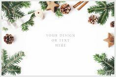 25 Holly Christmas mockups