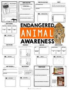Project Based Learning Activity: Endangered Animal Awareness