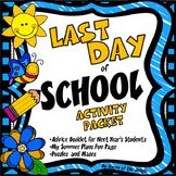 Last Day of School Advice Booklet Summer Plans Page and Puzzles