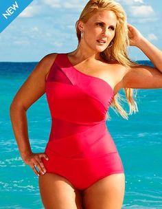 pink swimsuit / A Thick Girls Closet