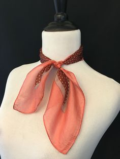 Coral & Rust Scarf