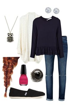 """Untitled #129"" by natashayoung ❤ liked on Polyvore featuring Rodebjer, Kobelli, Metropark and TOMS"