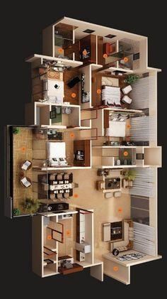 design plans Modern House Plan Designs Free Do… in 2020 House Plans Mansion, Sims House Plans, House Layout Plans, Family House Plans, Bedroom House Plans, Small House Plans, House Layouts, House Floor Plans, Apartment Floor Plans